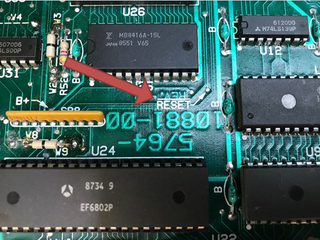Williams system 11 logic board reset circuit